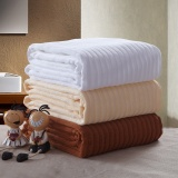 100% cotton hotel stripe bath towel