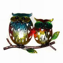 Mother′s Day Gift Metal Owl Wall Art Decoration