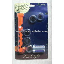 Plastic led flashlight logo projector flashlight with five lens