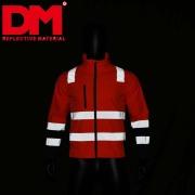 Yellow high visibility fleece jacket reflective safety jacket reflective security fleece jacket