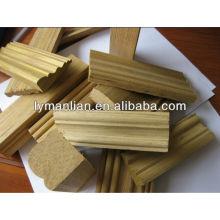moldagem de madeira de teca projetada iraque com linha preta
