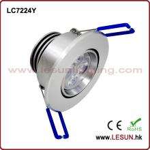 Empotrable de 5W LED debajo de la luz del gabinete / luz de techo LC7224y