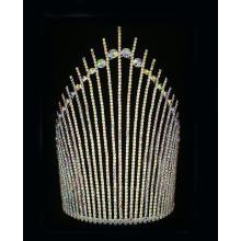 10 Inch Handmade AB Rhinestone Tiara Colored Pageants King Crown