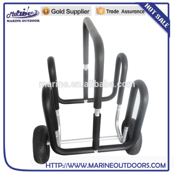 Double Aluminium Stand up paddleboard chariot Surfboard trolley SUP transporteur