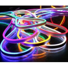 DMX lanterna mini RGB Neon flex, 72 pcs 5050SMD / m mudando de cor levou tubo de néon com controle remoto, 220-240 V levou tubo de placa de sinal