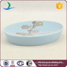 YSb40082-01-sd Fabrik blau Keramik Seifenschale in China