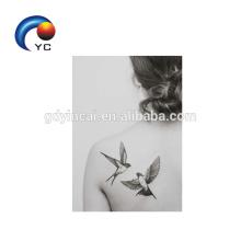 Patrones de aves Etiqueta engomada del tatuaje temporal Mujer Sexy Body Art Supply