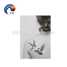 Birds Patterns Temporary Tattoo Sticker Woman Sexy Body Art Supply