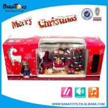 Brinquedos de canto animado com luz e música Decoração de árvore de Natal