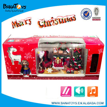 Animated singing toys with light and music Christmas tree decoration