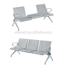 Stainless Steel public airport 3 seater waiting chair