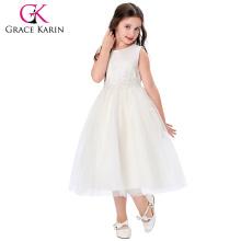 Grace Karin Cheap Sleeveless Ankle-Length Flower Girl Dress Patterns Birthday dress for girl of 7 Years Old CL008939-5