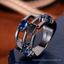 Women accessories china fashion ring sapphire blue stone ring model