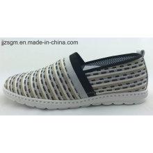 Casual espadrille / lona tecido plana sapatos para mulheres