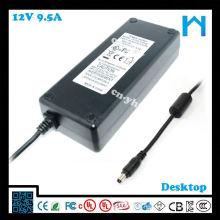 AC zu DC Netzsteckdose 2.1mm X 5.5mm UL gelistet 12v 9.5amp Netzteil 114w