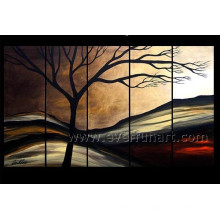5 Panels Handmade Landscape Oil Painting on Canvas