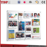 multi pocket clear acrylic information board/acrylic school bulletin board