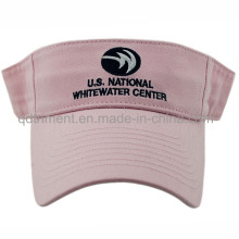 Moda bordado lavado algodão sarja esporte visor de golfe (TMV9233-1)