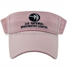Модная вышивка вымытая хлопок Twill Sport Golf Visor (TMV9233-1)