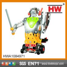 Brinquedo educativo do miúdo Metal o robô elétrico de DIY