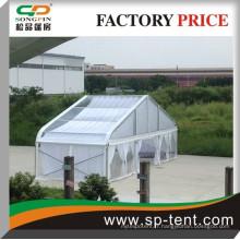 2014 Nouvelle tente multifonctionnelle d'exposition courbe à haute performance de haute qualité de 30 m avec doublure blanche