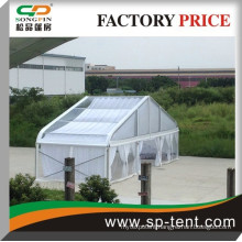 2014 New High quality multi-functional clear Curved exhibition tent 30m with white lining