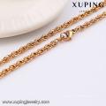 42949-Xuping atacado elegante jóias colar de cadeia longa