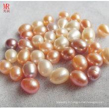 9-10mm Oval / Forme de riz Perle en eau douce Perle