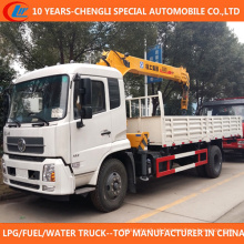 China caminhão 4X2 montado guindaste 5ton 6ton caminhão com guindaste