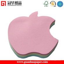 3X3 Cheap Custom Memo Pad Apple Shaped Memo Pad