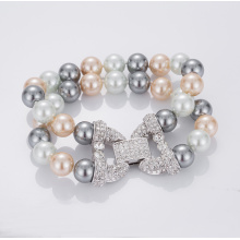 Hot Sale Double Strandfärgade Pearl Armband