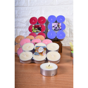 Varie candele Tealight Parffin con colore