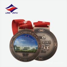 Логотип фитнес-ходьба медаль металла