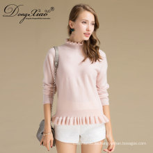 Custom Latest Fashion Design Stock Computer Knitted Cashmere Women Loose Sweater