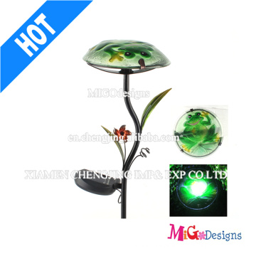Luz de champiñón de metal LED de jardín al aire libre de luz solar