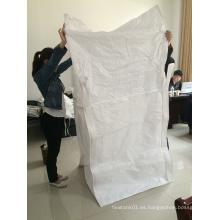 FIBC PP Bolsa con cubierta de falda para el embalaje de fertilizantes
