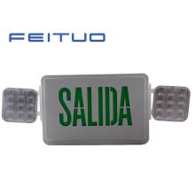 Luz de emergência, LED Combo, sinal de saída de LED, Cadastre-LED, luz, saída Combo