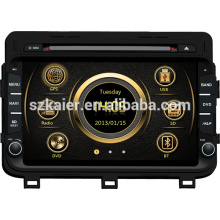 DVB-T/ISDB-T wince system car media for KIA 2014 K5/Optima with GPS/Bluetooth/Radio/SWC/Virtual 6CD/3G internet/ATV/iPod/DVR