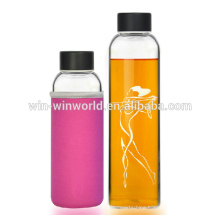 Custom Logo Travelling Green Glass Bottle With Tap
