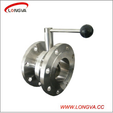 Stainless Steel 316 Sanitary Double Flange Butterfly Valve