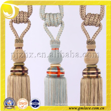 good quality exquisite workmanship curtain rayon slik tassel tieback