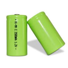 2018 alta capacidad de la batería 1.2V ni-mh C tamaño 3600mah batería recargable