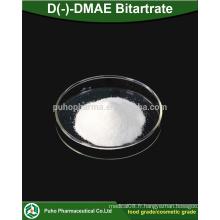 Haute qualité D (-) - DMAE Bitartrate en poudre en cosmétique / qualité alimentaire