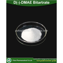 high quality D(-)-DMAE Bitartrate powder cosmetic grade/food grade