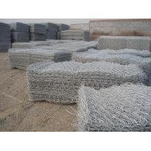 Galvanizado ou PVC Gabion Box Factory / Hexagonal Wire Netting / Stone Cage