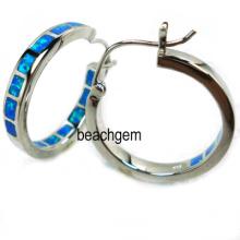 Silber Opal Ohrringe Schmuck (YE00040)