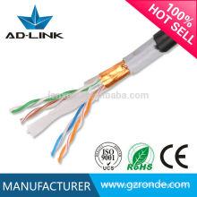 PVC Jacket SFTP cat 6 montaje de cable lan impermeable