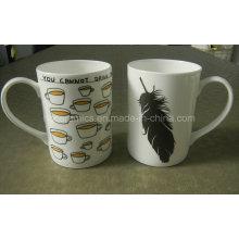 Tasse promotionnelle de tasse de porcelaine de 10oz