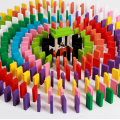 Wooden Educational Toy Colorful 120 Pcs Domino Blocks
