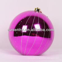 large pretty shinny pattern christmas ball ornament